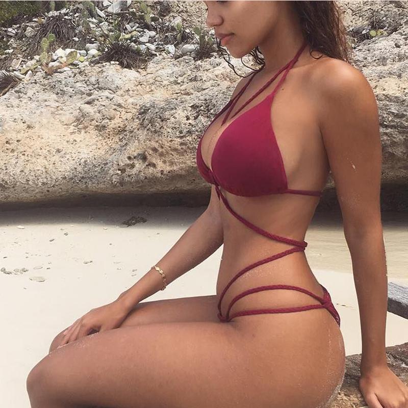 2018-Push-Up-Bikinis-Sexy-Bandage-Design-Halter-Bikini-Women-High-Waist-Women-Swimwear-Swimming-Trunks-One-Piece-Swimsuit-9