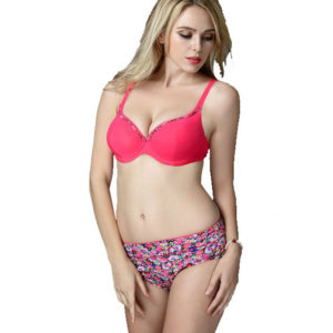 Plus Size Floral Bikini with Underwire