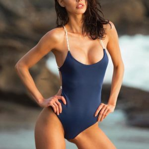 Strappy Back Thong One Piece Swimsuit