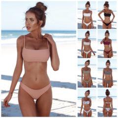 Simple Strapless Bandeau Bikini