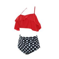 Plus Size Flowy Bikini Top and High Waisted Bottoms