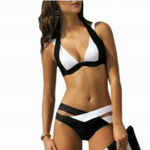 Colorblock Bandage Bikini