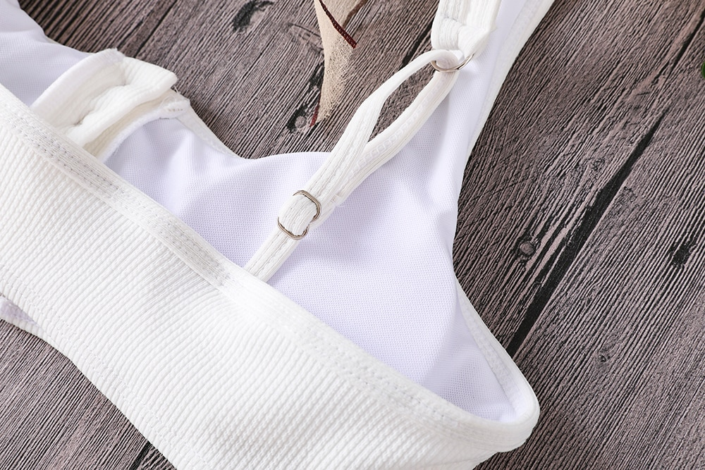 Button Front Knotted Bikini 33