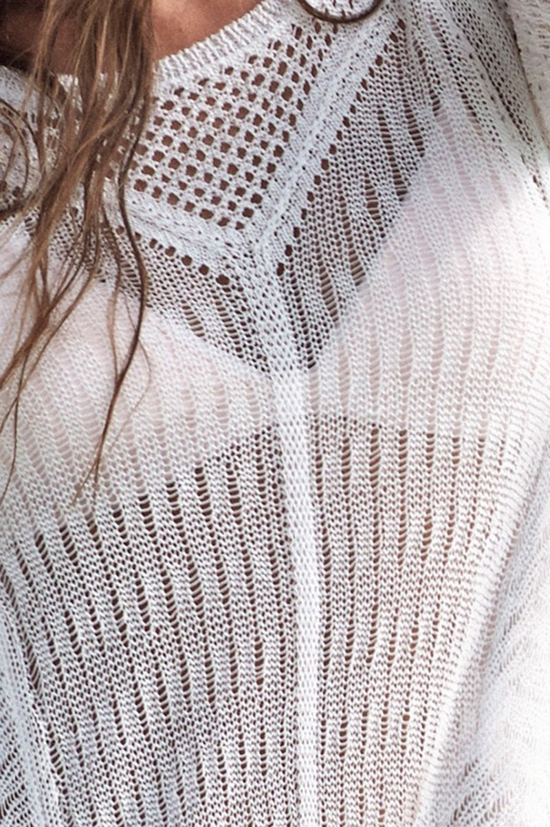 Slinky Knitted Bikini Cover-up 4